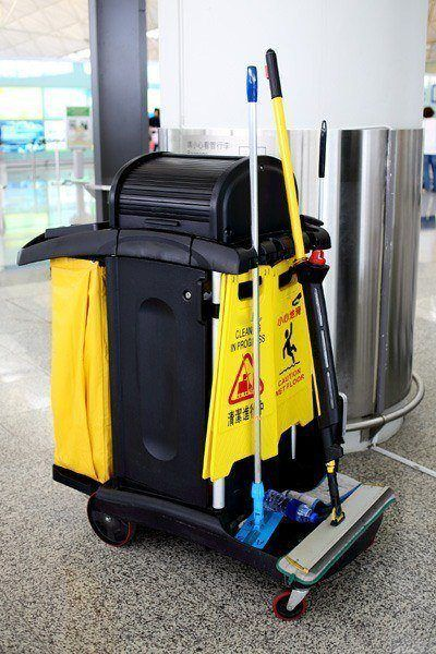 Office floor cleaning equipment. Sanmar building services include office cleaning services NYC.