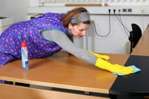 Medical office cleaning and disinfecting service.